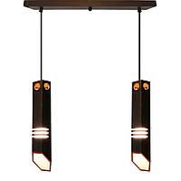 """Подвесной светильник в виде трубок на планке """"LIZA-2"""" Е27  светильник лофт из дерева LS0000407"""