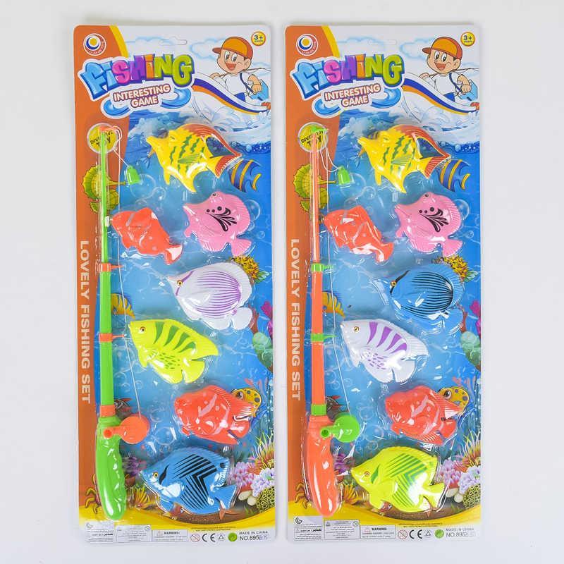 Рыбалка магнитная 895 В-15 (72/2) 2 вида, 7 морских животных, на листе