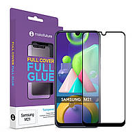 Защитное стекло MakeFuture Full Cover Full Glue Samsung M215 Galaxy M21 Black (MGF-SM21)