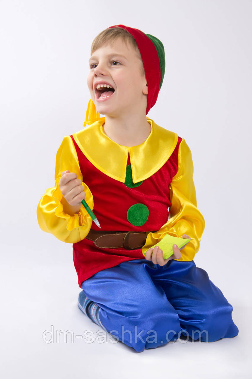 Детский карнавальный костюм «ГНОМИК красный»