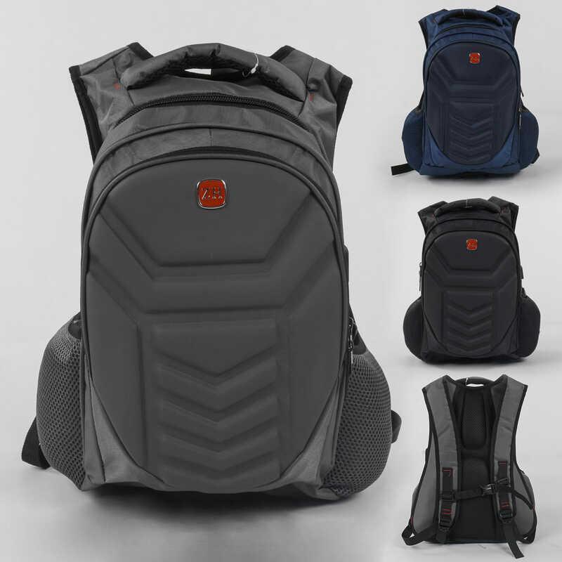 Рюкзак C 43533 (36) 3 цвета, 1 отделение, 2 кармана, защитный бампер, USB кабель, в пакете