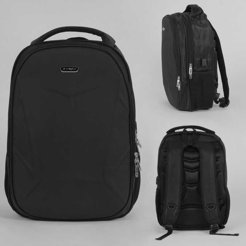Рюкзак С 43658 (30)  защитный бампер, usb кабель, ортопедическая спинка, в пакете