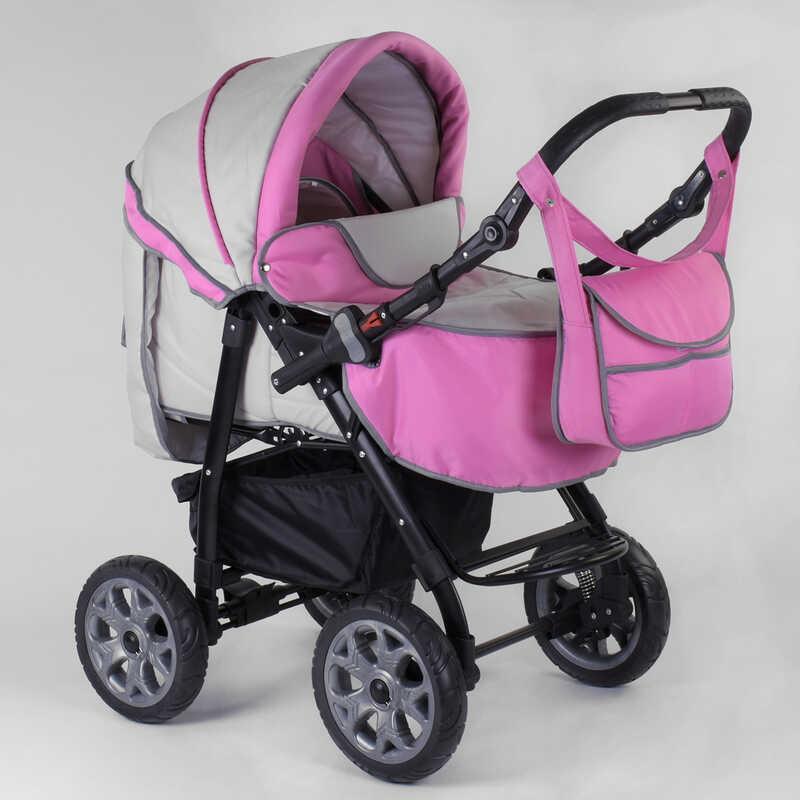 Коляска для детей Viki  86- C 21 (1) Серо-розовая