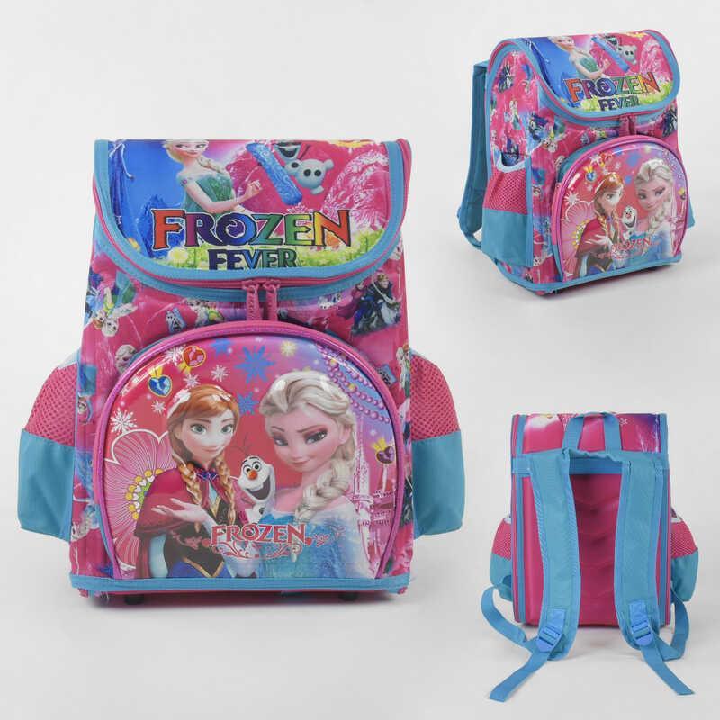 Рюкзак школьный каркасный С 43558 (36) 3D принт, 1 отделение, 3 кармана, ортопедическая спинка, в пакете