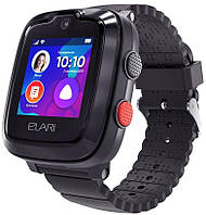 Детские умные часы (с GPS) ELARI KidPhone 4G с GPS-трекером и видеозвонками Black (KP-4GB)