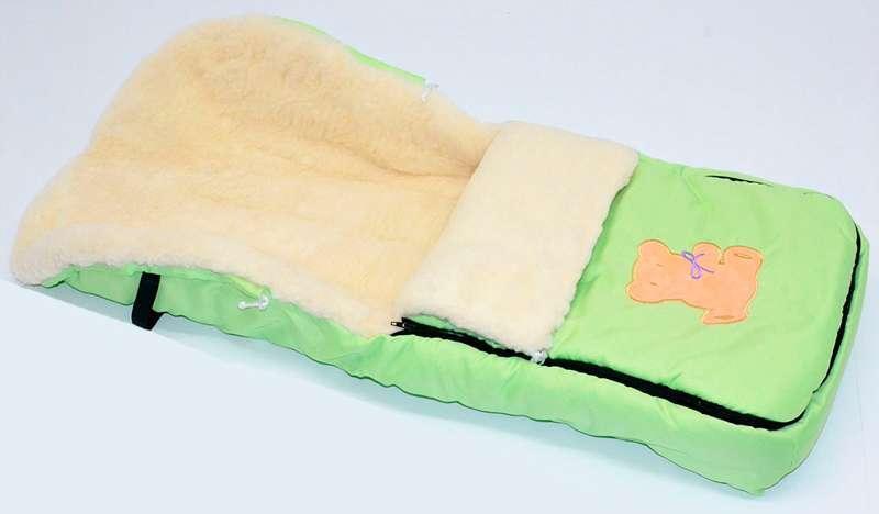 Гр Конверт на овчине 862/ 1043 (1) цвет салатовый
