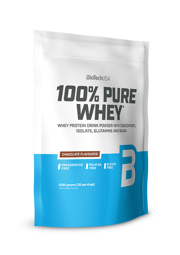 Сывороточный протеин концентрат BioTech 100% Pure Whey (1000 г) биотеч пур вей strawberry