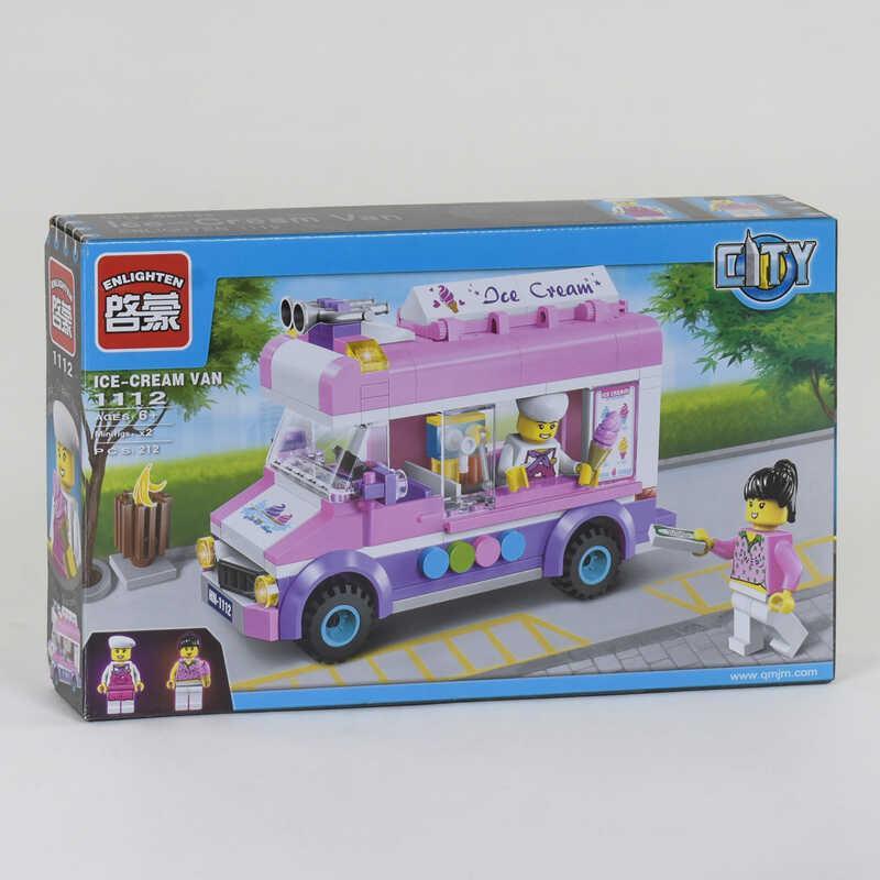 """Конструктор 1112 (48) """"Машина-мороженное"""", 212 деталей, в коробке"""