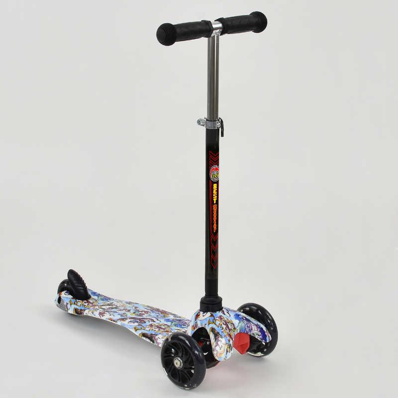 """Самокат А 24708 /779-1232 MINI """"Best Scooter"""" (8) 3 колеса свет, PU, трубка руля алюминиевая, в коробке"""