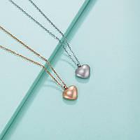 Кулон на цепочке оптом «Сердечко», из медицинского золота Xuping.