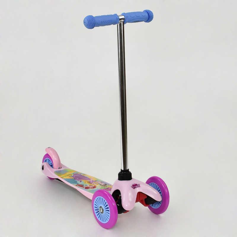 """Самокат ТК 58416 """"Принцессы"""" (10) колёса PVC, переднее колесо d=12см, заднее d=9см"""