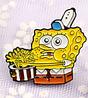Губка боб спанч боб брошь брошка значок Sponge Bob металл с миской, фото 3