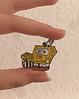 Губка боб спанч боб брошь брошка значок Sponge Bob металл с миской, фото 2