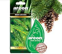 "Освеж.сухой листик - ""Areon"" - Mon листик - Nordic Forest (можжевельник,лиственница,кедр) (10шт/уп)"