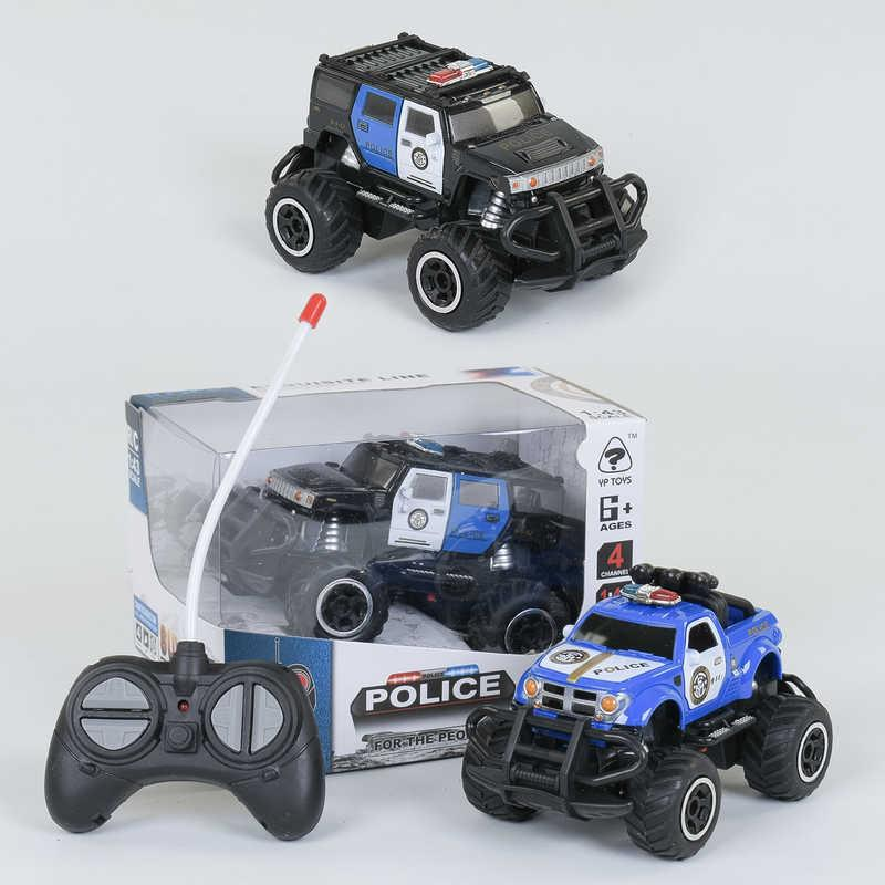 Джип Полиция на радиоуправлении 6146 G /6146 H (96/2) 2 цвета, полный привод, на батарейках, в коробке