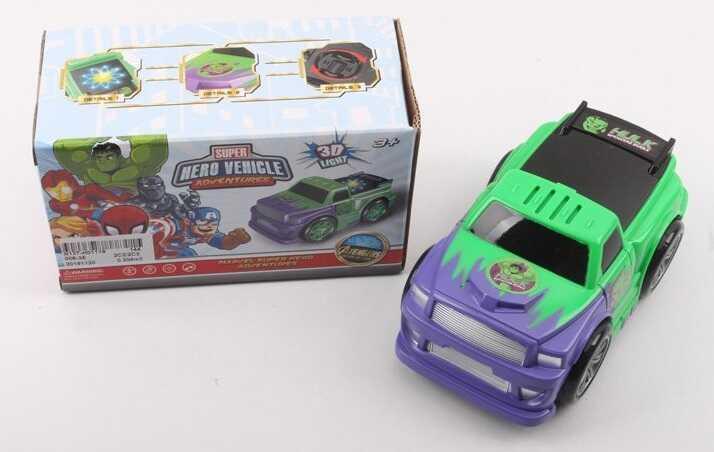 Машинка 008-3 E (144/2) 3D свет, звук, произвольные движения, на батарейках, в коробке