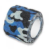 Бинт MONDIGOS Кобан 5см самофиксирующийся эластичный синий-камуфляжный