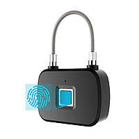 Умный навесной замок Anytek L13 с отпечатком пальца смарт биометрия Fingerprint Датчик 3927-11285, КОД: 1598872