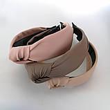 Ободок модный с узелком обруч Чалма эко-кожа разные цвета, фото 7