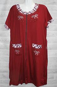 Халат-платье женский  Х/Б оптом (54-56-58-60)Китай-52909