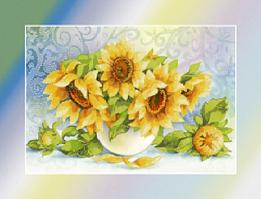 Вышивка бисером Подсолнухи (Цветы)