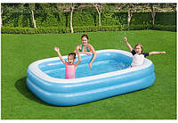 """Бассейн для всей семьи """"Голубое море"""" Bestway 54006, 262-175-51 см, 778 л"""