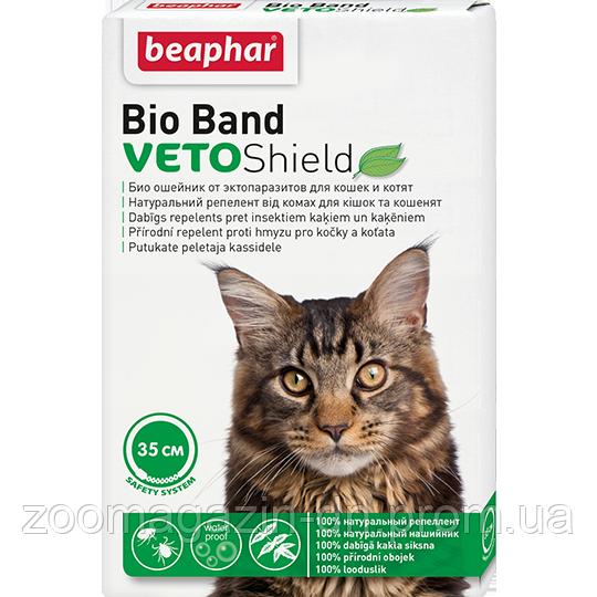 Beaphar Ошейник Bio от блох, клещей и комаров для кошек и котят VETO Shield Bio Band 35 см