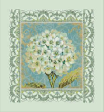 Вышивка бисером Белая герань (Цветы)