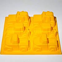Силиконовая форма (Машинки 6 шт - 33*24,5*5 см)