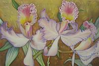 Картина батик цветы ОРХИДЕИ