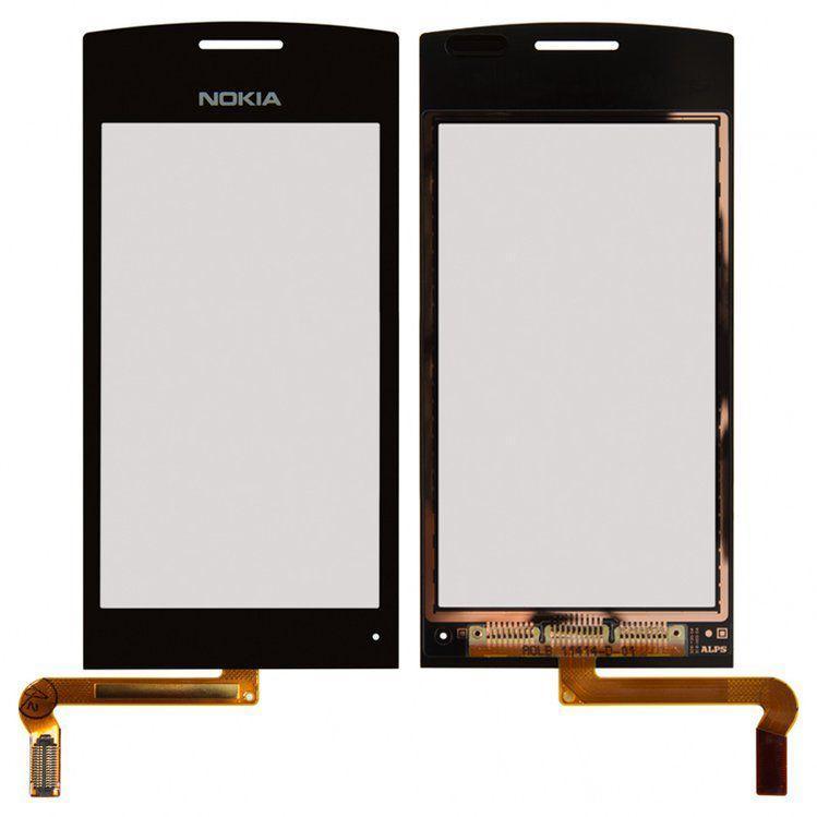 Сенсор (тачскрин) для телефона Nokia 500 Black