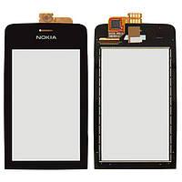 Сенсор (тачскрин) Nokia Asha 308, Asha 309, Asha 310 Black