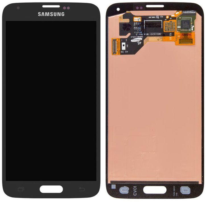 Дисплей Samsung Galaxy S5 G900 с тачскрином, оригинал, Black