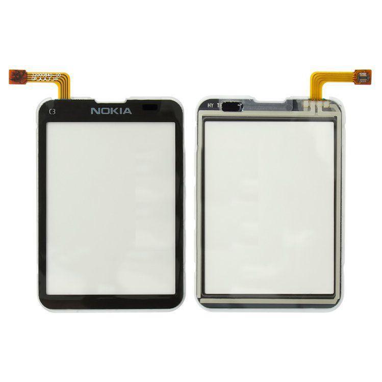 Сенсор (тачскрин) для телефона Nokia C3-01, C3-02, C3-03 Black