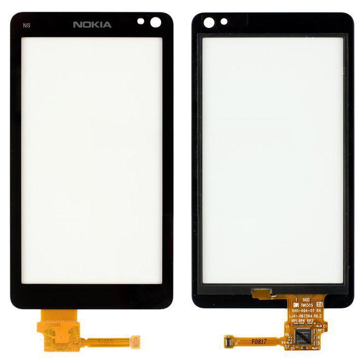Сенсор (тачскрин) для телефона Nokia N8-00 Black