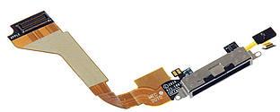 Нижний шлейф iPhone 4 с разъемом зарядки и микрофоном Original Black
