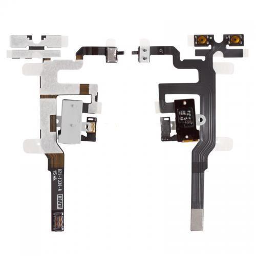 Шлейф iPhone 4S с кнопками регулировки громкости и разъемом наушников White