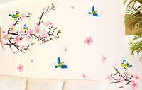 Виниловые наклейки на стену Цветущий Персик