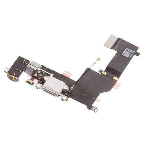 Шлейф Apple iPhone 5S з роз'ємом зарядки, навушників і мікрофоном Original White