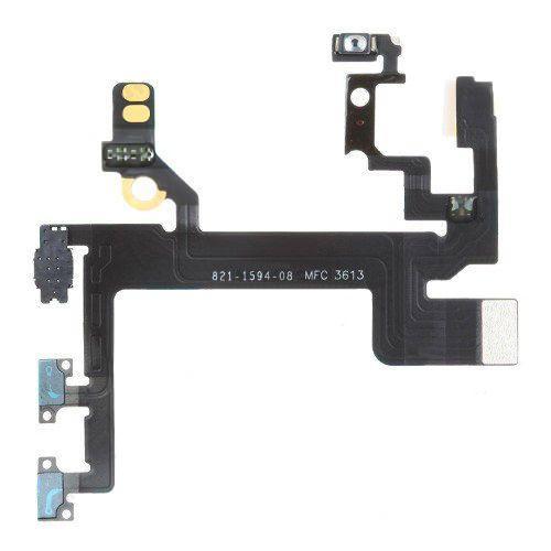 Шлейф Apple iPhone 5S з кнопкою включення і регулювання гучності Original