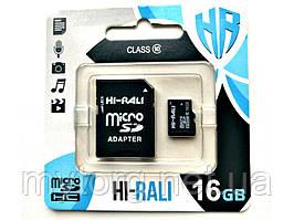 Карта памяти Hi-Rali microSDHC, 16Gb, Class10, SD адаптер SD адаптер