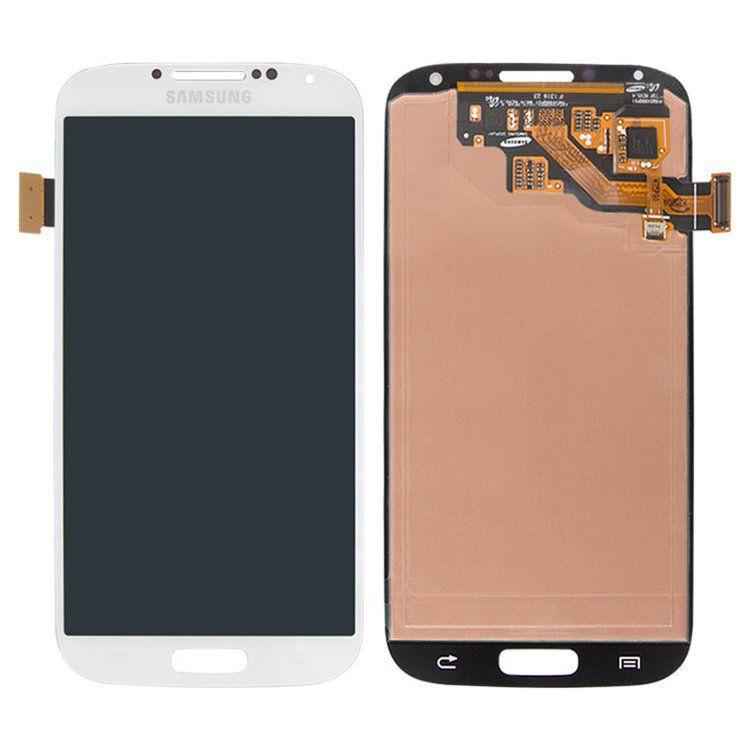 Дисплей (экран) для телефона Samsung Galaxy S4 I9500, I9505, I9506, I9507, I337, I545, M919 (Super AMOLED) + Touchscreen Original White