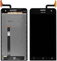 Дисплей (экран) для телефона Asus ZenFone 5 A500CG, A500KL, A501CG + Touchscreen Black