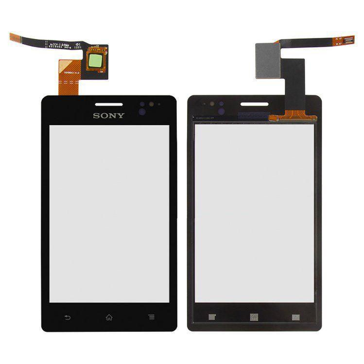 Сенсор (тачскрин) Sony Xperia Go ST27i Black