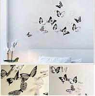 Интерьерные наклейки на стену бабочки 3д 3D