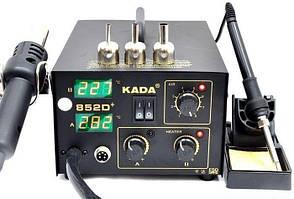 Паяльна станція термовоздушная, компресорна, двоканальна Aida 852D+ (Фен, паяльник, 900М, ESD Safe, 350Вт)