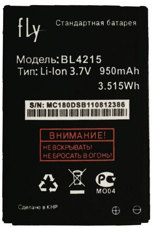 Аккумулятор Fly MC180 / BL4215 (950 - 1500 mAh) 12 мес. гарантии