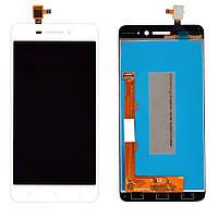Дисплей (экран) для телефона Lenovo S60 + Touchscreen White