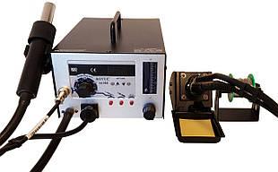 Паяльна станція термовоздушная, турбінна, двоканальна AOYUE 968 (Фен, паяльник, димопоглотітель)