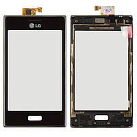 Сенсор (тачскрин) для телефона LG Optimus L5 E610, Optimus L5 E612 with frame Black